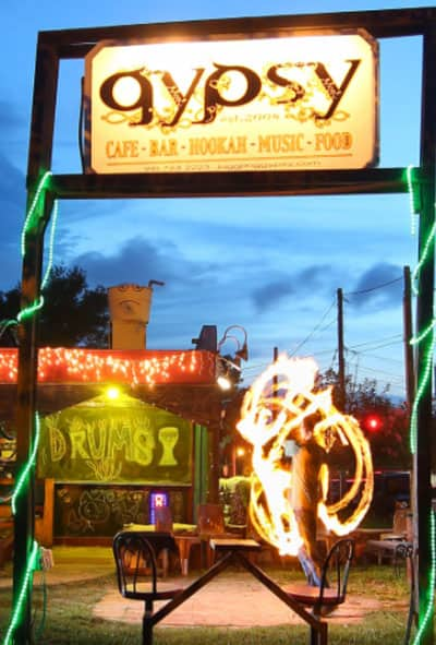 FIRE DRUMS circus artist performers - Juggling Gypsy: Bar